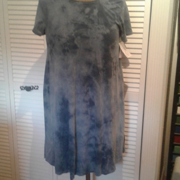 7d53164ddad5 LuLaRoe Dresses | Unicorn Alert Tye Dyedenim Blue Carly | Poshmark